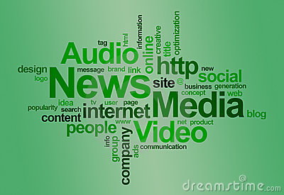 λέξη ειδήσεων μέσων σύννεφ&omega