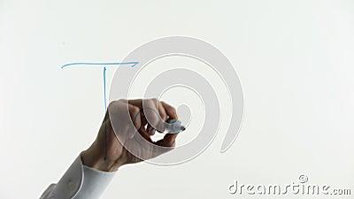 Λέξη ομάδας που γράφεται στο γυαλί, ομαδική εργασία, συνεργασία μεταξύ των ανθρώπων σε μια επιχείρηση απόθεμα βίντεο