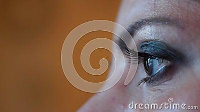 Λαμπρά τα μάτια αποτελούν κοντά επάνω απόθεμα βίντεο