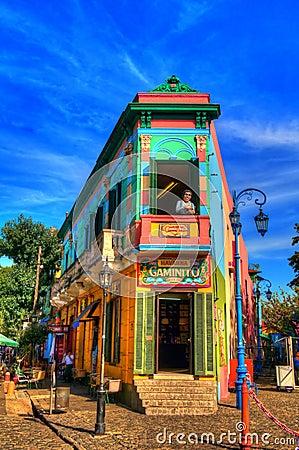 Λα boca Εκδοτική Στοκ Εικόνες
