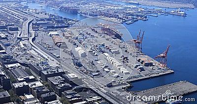 Λειτουργία ναυτιλίας λιμένων του Σιάτλ, Ουάσιγκτον 4K φιλμ μικρού μήκους