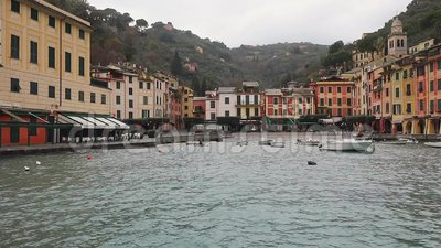 Λιμένας Portofino απόθεμα βίντεο