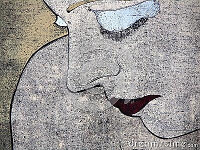 λυπημένη γυναίκα πορτρέτο&up