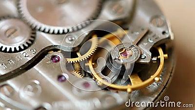 Μακροεντολή μηχανισμών ρολογιών απόθεμα βίντεο