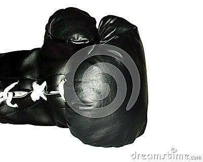 μαύρο εγκιβωτίζοντας γάντι