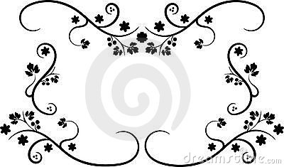 μαύρο πλαίσιο swirly