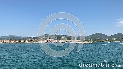 Μεσογειακός νότος ακτών της Γαλλίας απόθεμα βίντεο