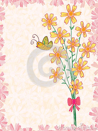 Μια δέσμη της πεταλούδας λουλουδιών
