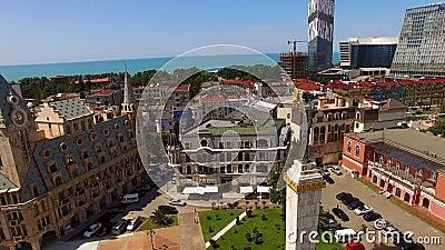 Μνημείο Medea στην πλατεία της Ευρώπης σε Batumi Γεωργία, τόπος προορισμού τουριστών, μύθος απόθεμα βίντεο