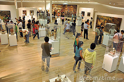 μουσείο που επισκέπτετ& Εκδοτική εικόνα