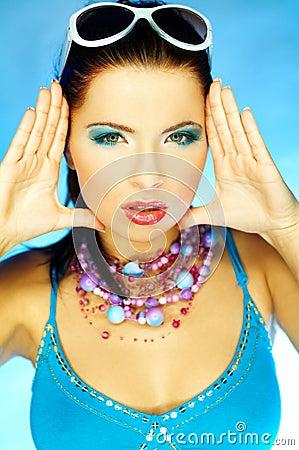 μπλε makeup