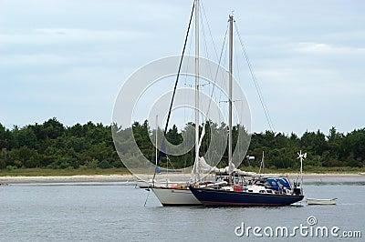 μπροστινά sailboats δύο όψη