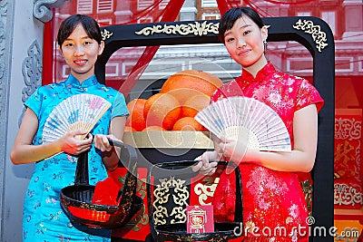 Νέα κινεζικά teens Εκδοτική Στοκ Εικόνα