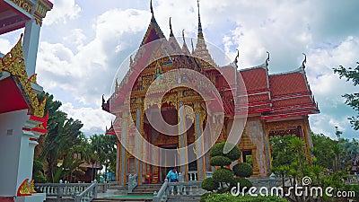 Ναός του Βούδα στην Ασία, η θρησκευτική λάρνακα του βουδισμού, ένας χώρος λατρείας φιλμ μικρού μήκους