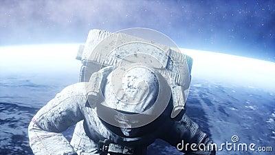 Νεκρός αστροναύτης zombie στο διάστημα πτώμα Ρεαλιστική 4K ζωτικότητα απεικόνιση αποθεμάτων