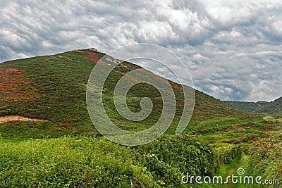 Νεφελώδες τοπίο στη Νορμανδία