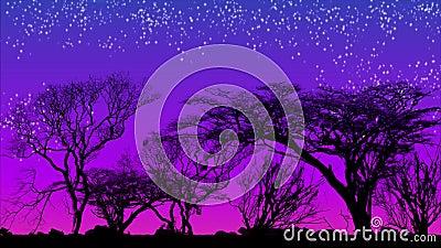 Νυχτερινές πτώσεις, ηλιοβασίλεμα, βραδινός ουρανός, παρέλευση χρόνου φιλμ μικρού μήκους