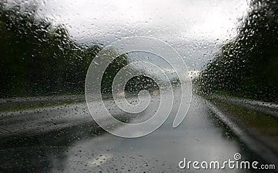οδηγώντας βροχή β