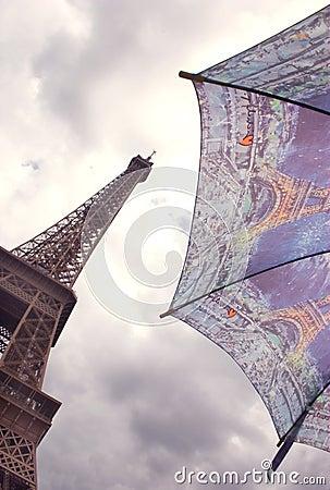 ομπρέλα πύργων του Άιφελ Π&alp