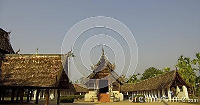 Ορόσημο Τόπος Ταξιδίου Του Chiang Mai, Ταϊλάνδη απόθεμα βίντεο