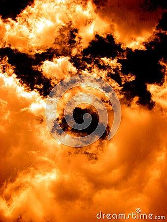 ουρανός πυρκαγιάς