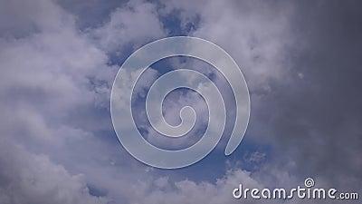 ουρανός σύννεφων φιλμ μικρού μήκους