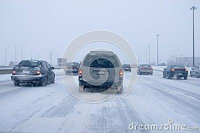 οδηγώντας χειμώνας