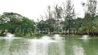 Ο κήπος λιμνών Permaisuri είναι ένα από το διάσημο πάρκο σε Cheras απόθεμα βίντεο