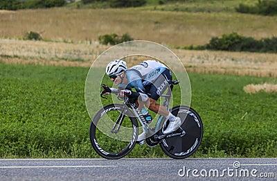 Ο ποδηλάτης Michal Kwiatkowski Εκδοτική Στοκ Εικόνα