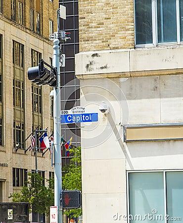 Οδός capitol Streetsign