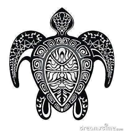 乌龟纹身花刺