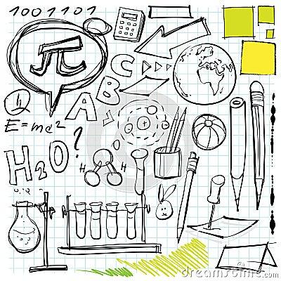 πίσω σχολείο doodles