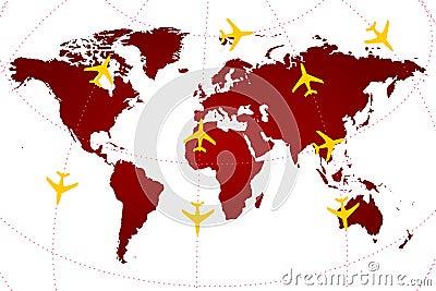 """""""Χάρτης αερογραμμών σε πραγματικό χρόνο"""""""