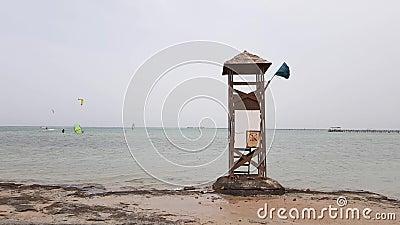 Παλαιός πύργος διάσωσης απόθεμα βίντεο