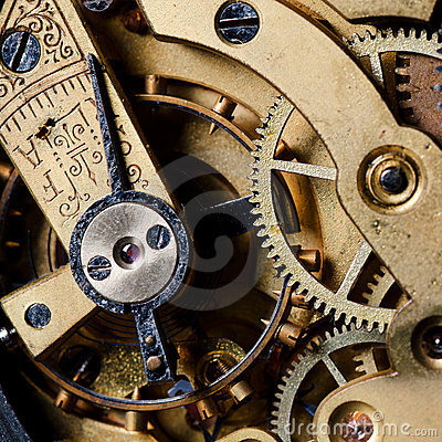 παλαιό ρολόι μηχανισμών