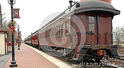 παλαιό τραίνο σταθμών αυτ&omicro