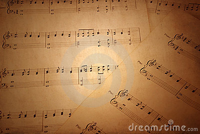 παλαιό φύλλο μουσικής