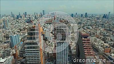 Πανόραμα του Τελ Αβίβ απόθεμα βίντεο