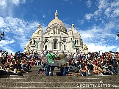 Παρίσι Montmatre Εκδοτική Εικόνες