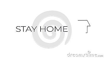 Παραμονή υπογραφής μετακίνησης στο σπίτι με διαδραστική εικόνα του σπιτιού με καπνό διανυσματική απεικόνιση