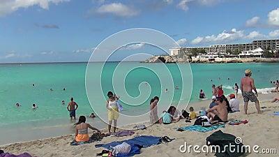 Παραλία Maho στο ST Maarten φιλμ μικρού μήκους