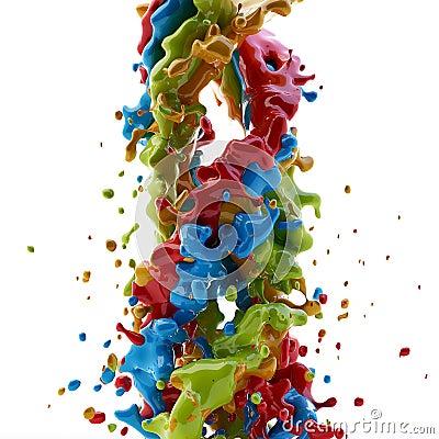 Παφλασμός χρωμάτων