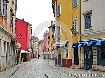 Παλαιά μεσογειακή οδός Εκδοτική Στοκ Εικόνα