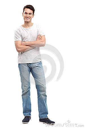 Περιστασιακός νεαρός άνδρας