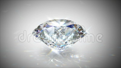 Περιστρεφόμενο και λάμποντας διαμάντι