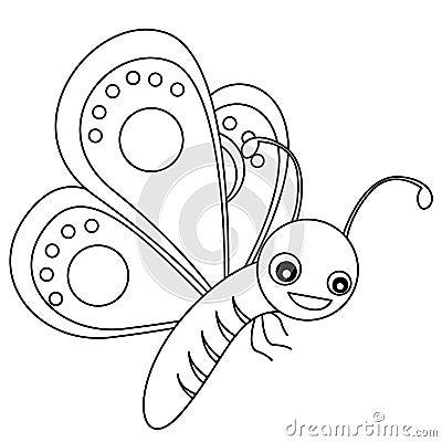 πεταλούδα lineart