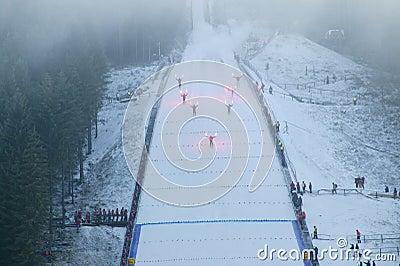 πηδώντας έναρξη σκι