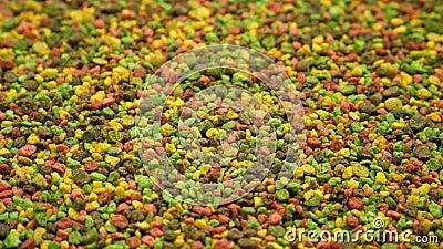 Πολύχρωμη κοκκώδης τροφή για τροφή φιλμ μικρού μήκους