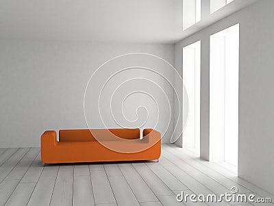 πορτοκαλής καναπές
