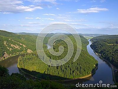 ποταμός Σάαρ saarschleife